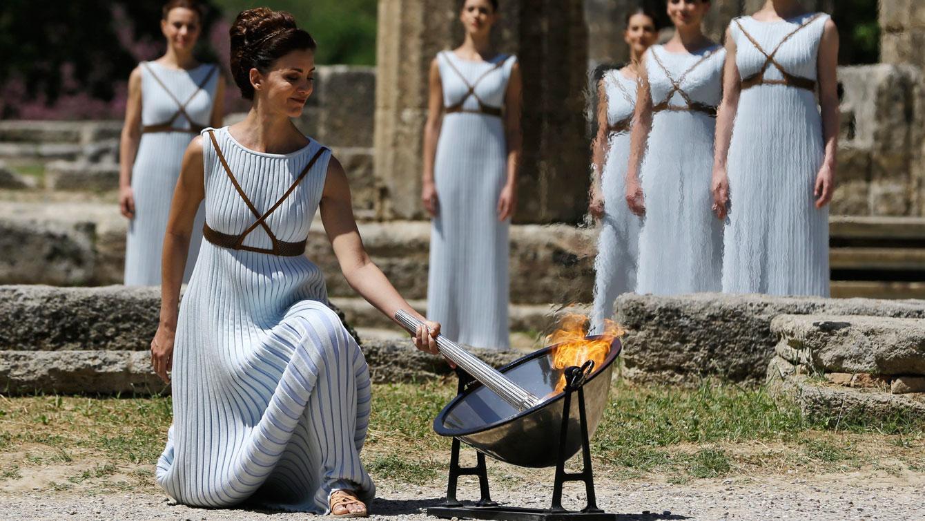 Olympia cerimonia accensione fiamma