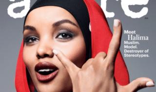 Modella con hijab su Allure