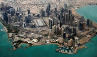 Una vista aerea di Doha, capitale del Qatar.
