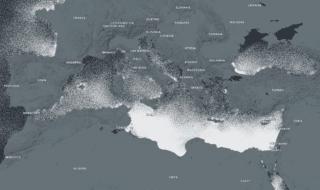mappa plastica oceani