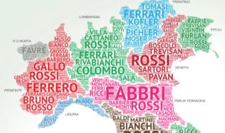 mappa dei cognomi