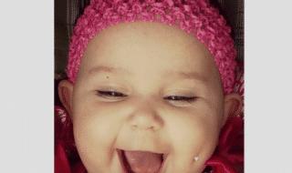 la neonata col piercing