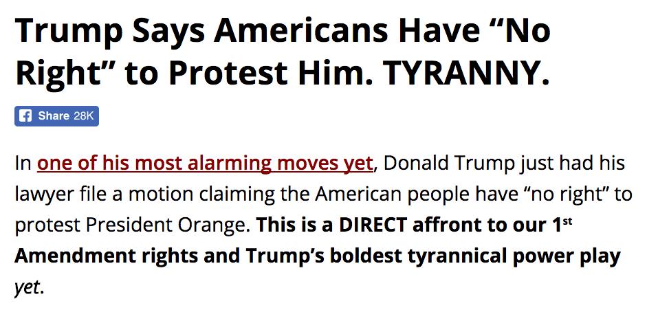 trump dittatore