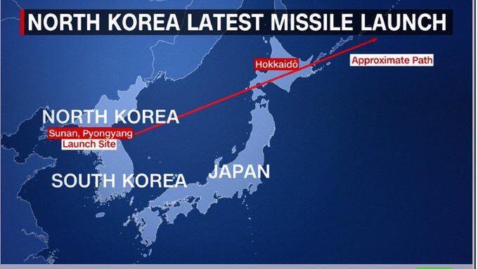 tragitto missile nordcorea sorvola giappone
