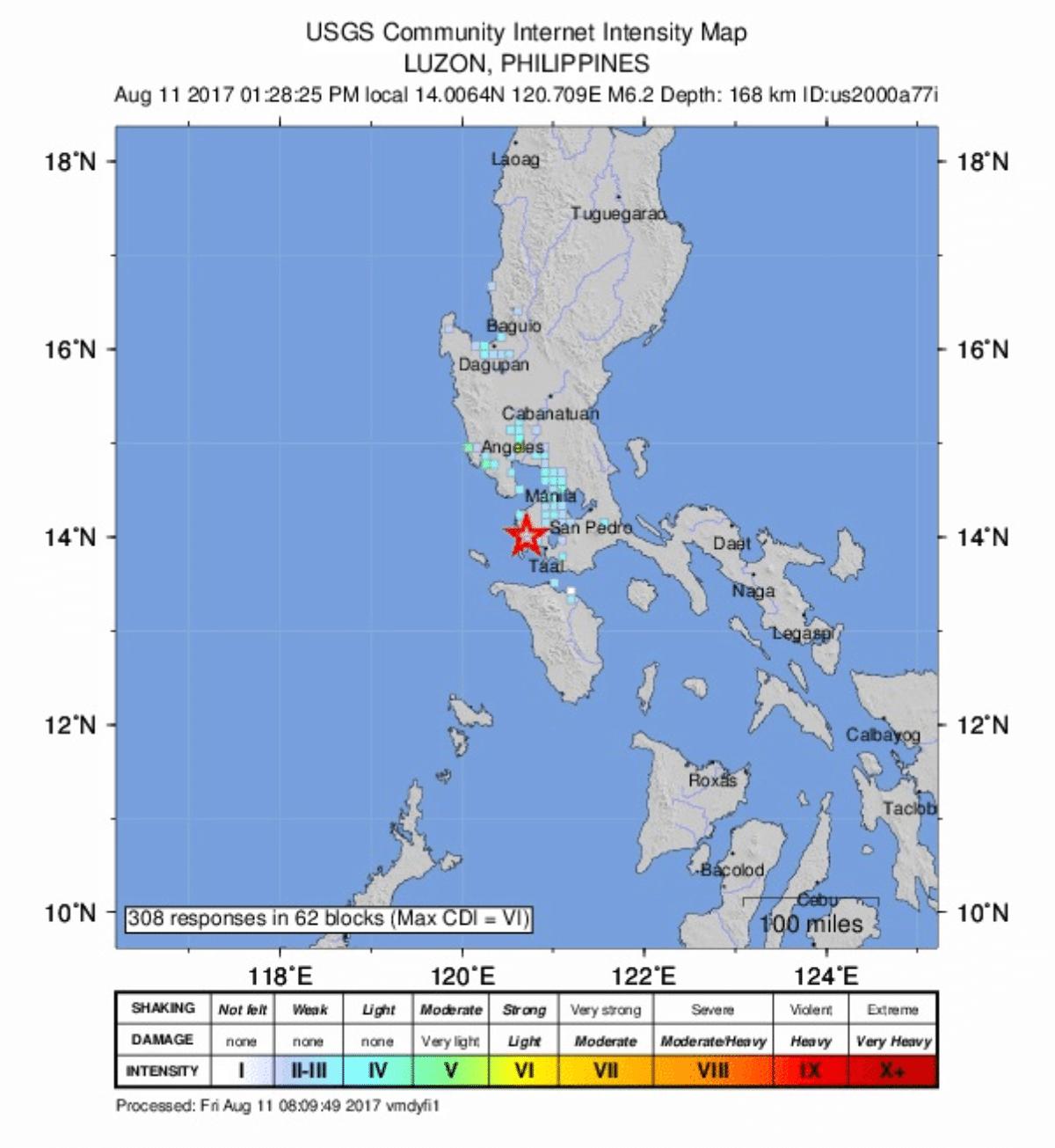 Un terremoto ha colpito l'isola di Luzon, nelle Filippine