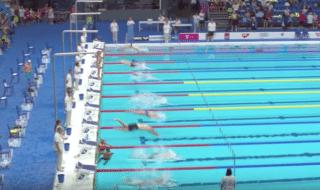 Il nuotatore che non si è tuffato per omaggiare le vittime di Barcellona
