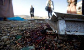 Almeno sette persone sono morte in un raid aereo contro un posto di blocco in Yemen
