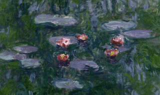 Le ninfee, realizzate dal pittore francese Claude Monet