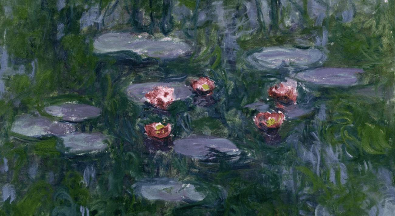 Le ninfee, realizzate dal pittore francese Claude Monet