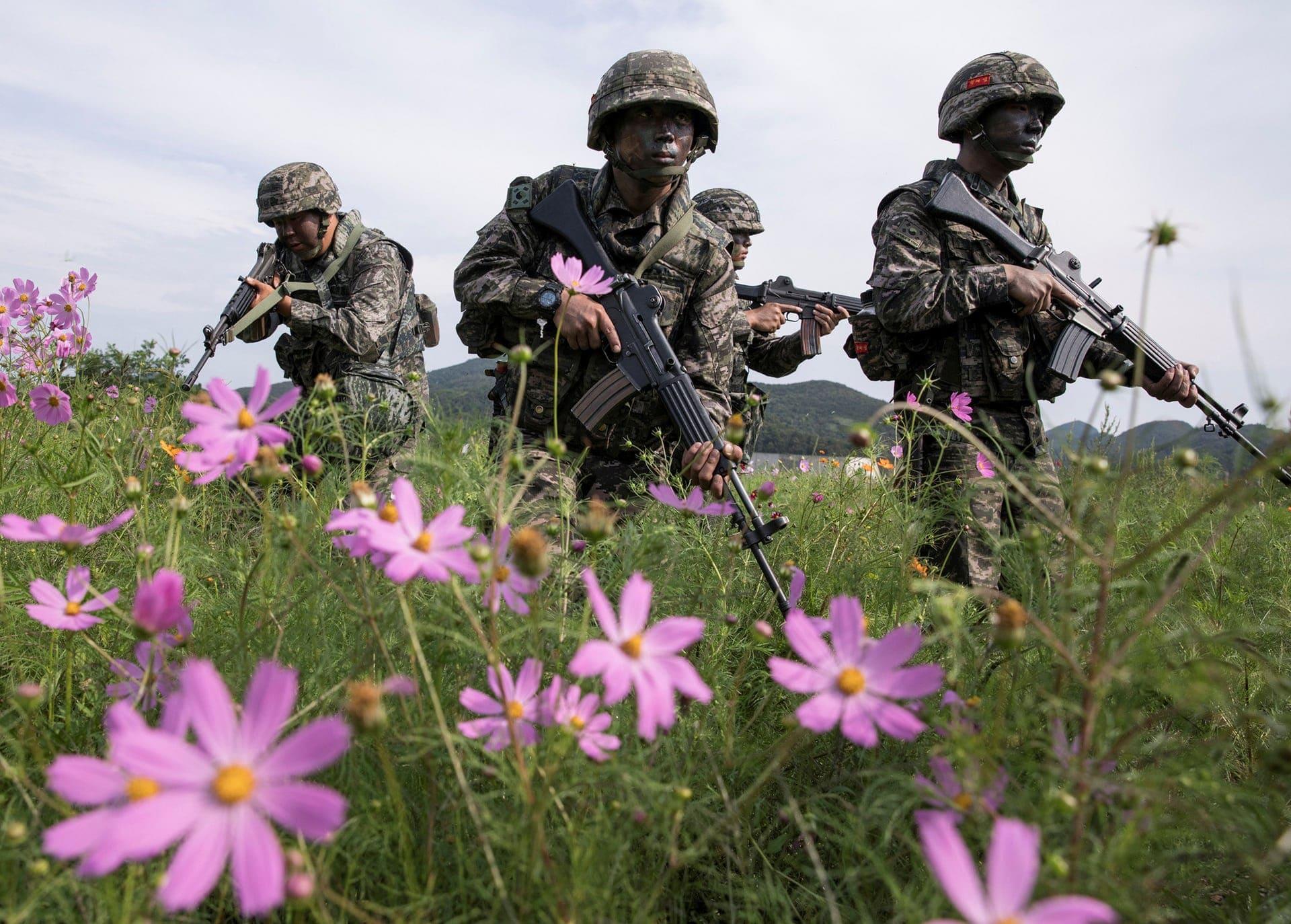 Militari sudcoreani al confine