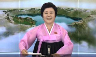 Ri Chun-hee è la presentatrice della tv di stato nordcoreana