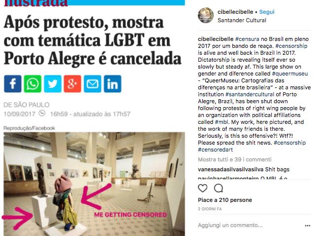 La mostra d'arte queer chiusa in Brasile