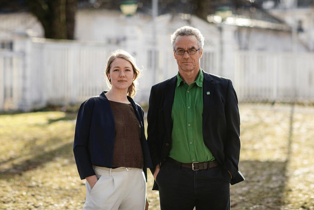 Une Aina Bastholm e Rasmus Hansson, i leader del partito Verde in Norvegia