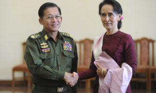 Aung San Suu Kyi, leader birmana e premio nobel per la pace nel 1991
