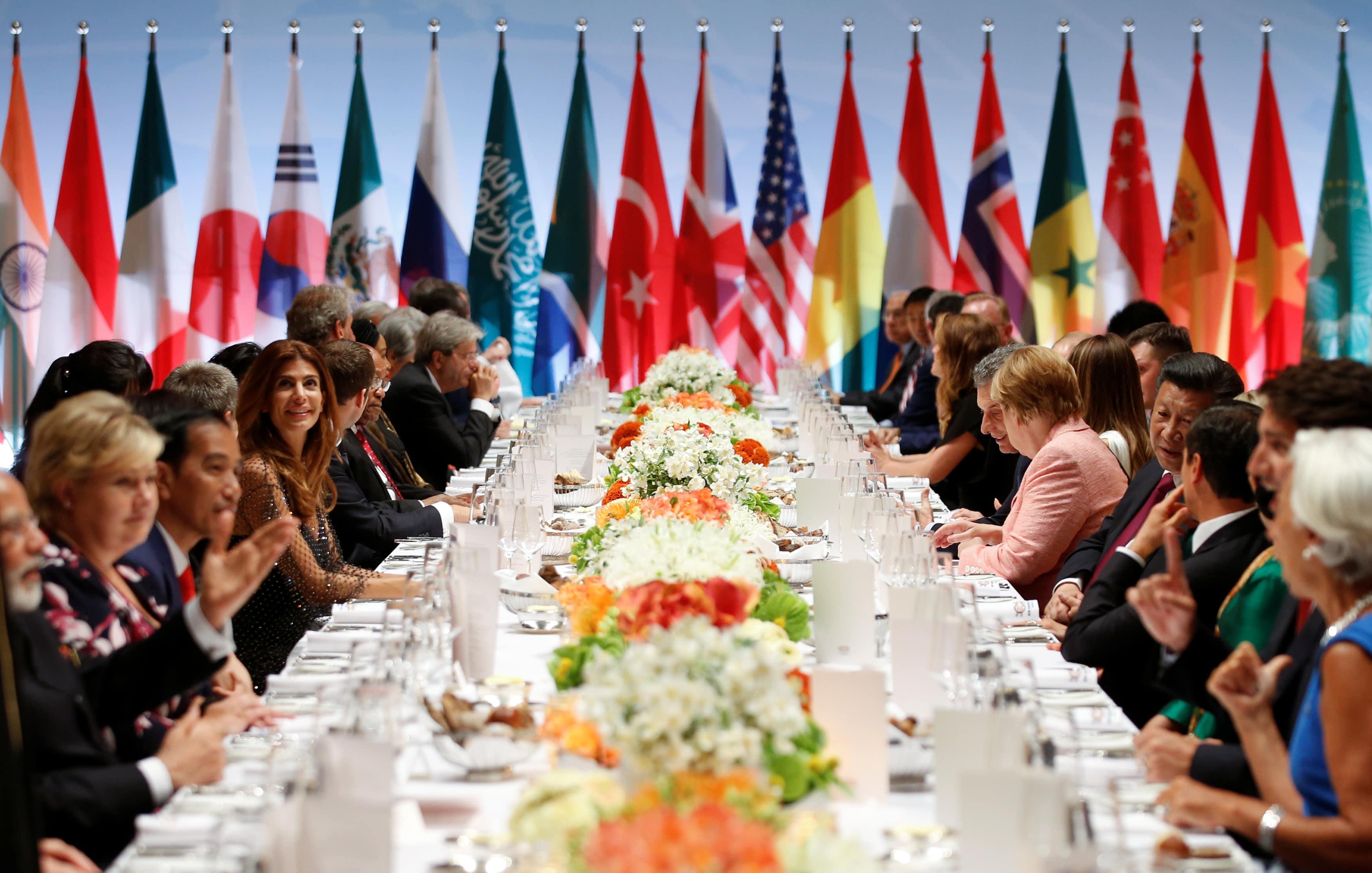 I leader del G20 a cena ad Amburgo nel 2017
