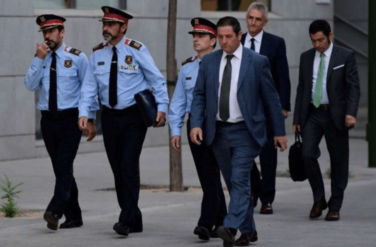 Josep Lluis Trapero il capo dei Mossos de Esquadra la polizia catalana
