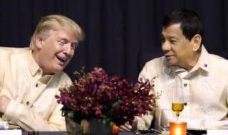 Donald Trump insieme a Rodrigo Duterte