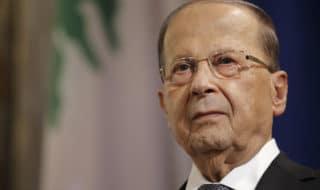 Il presidente libanese Michel Aoun.