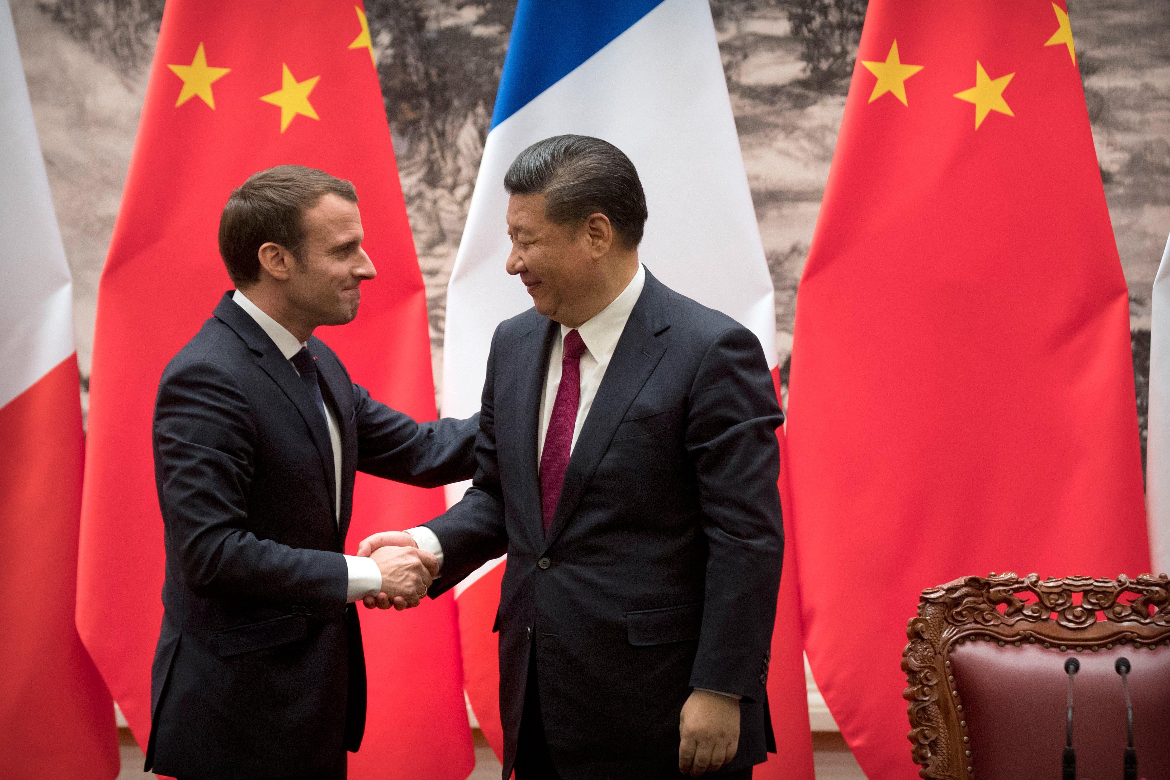 Macron per la prima volta in visita di Stato in Cina