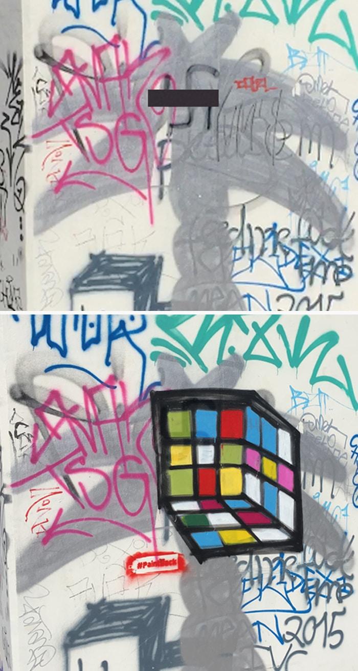 A Berlino Un Artista Trasforma Le Svastiche In Colorati Graffiti Tpi