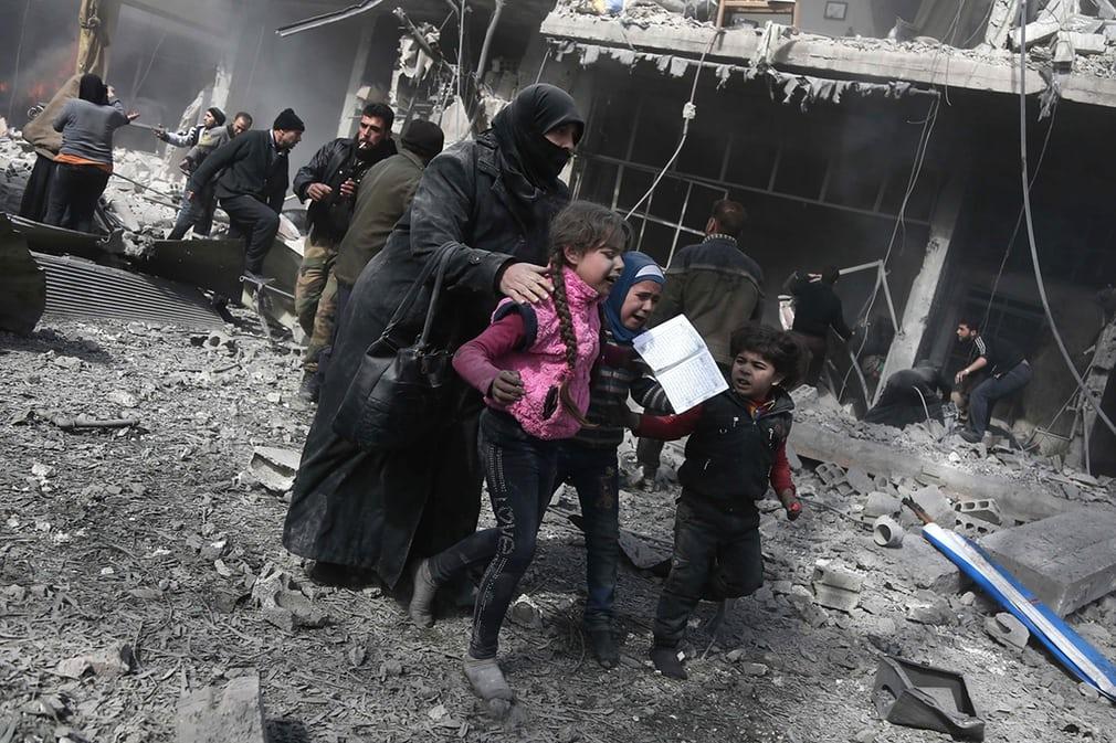 Ghouta cartoline bambini siria