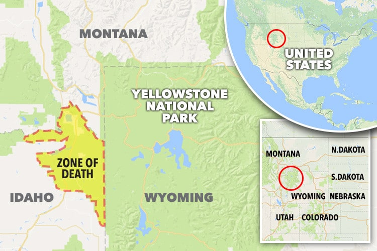 zona della morte Yellowstone