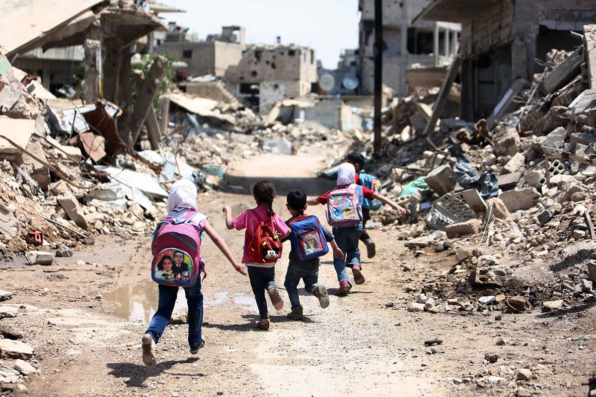 Siria bambini bombe scuola