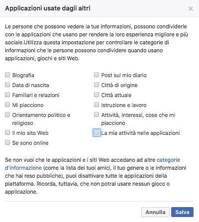dati facebook