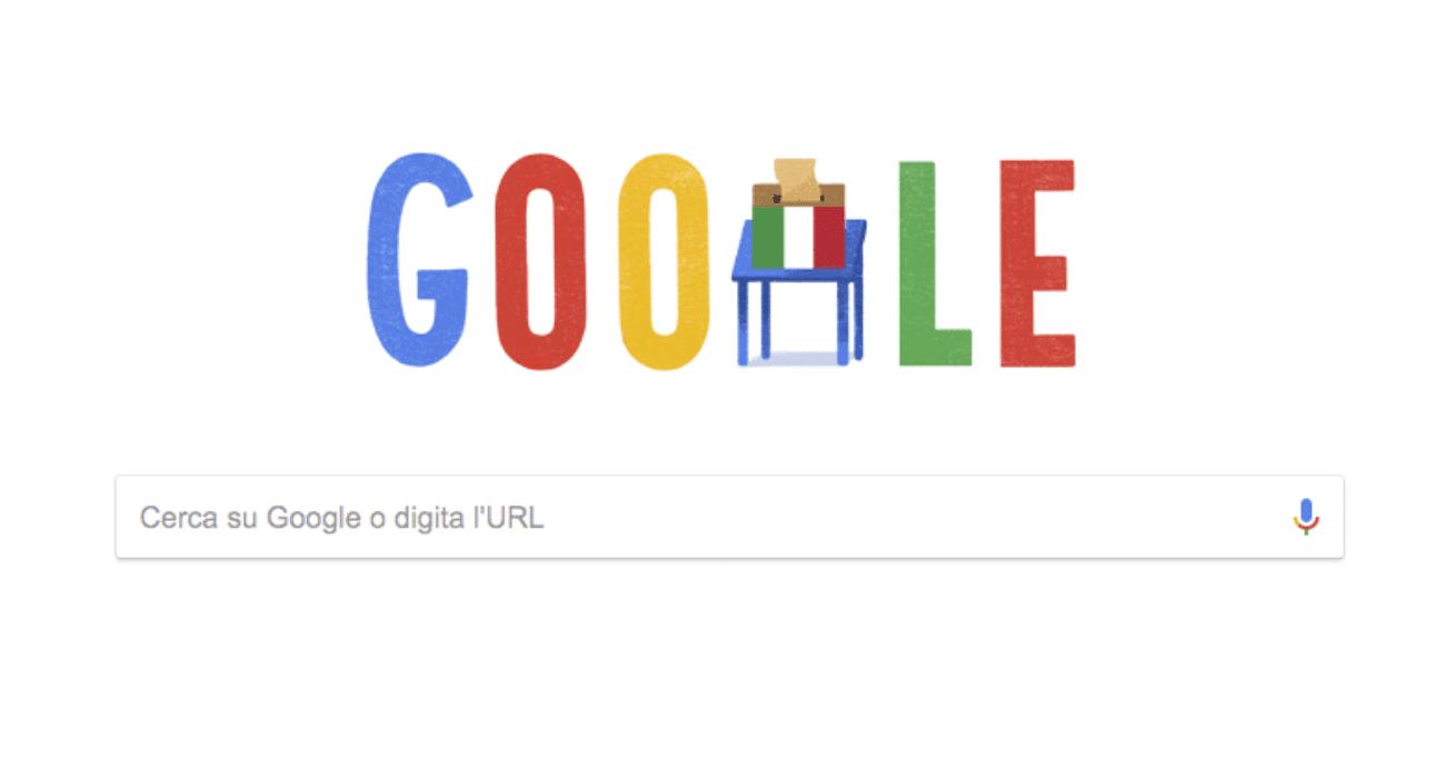 doodle Google elezioni italiane 2018
