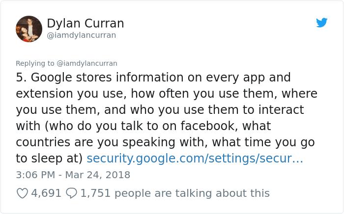 dati facebook google