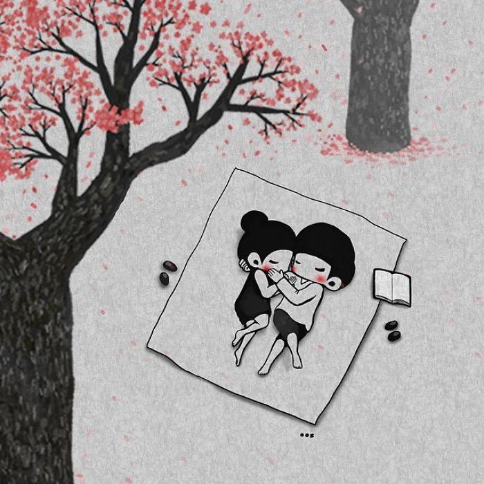 processo innamoramento illustrazioni