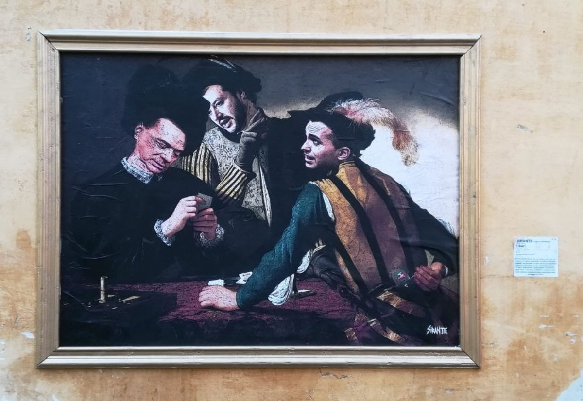 murales caravaggio berlusconi salvini di maio