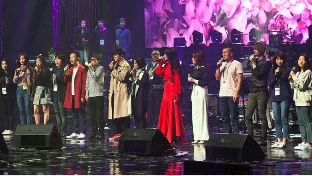 Corea del Nord Kim Jong un concerto musica K-pop Corea del Sud