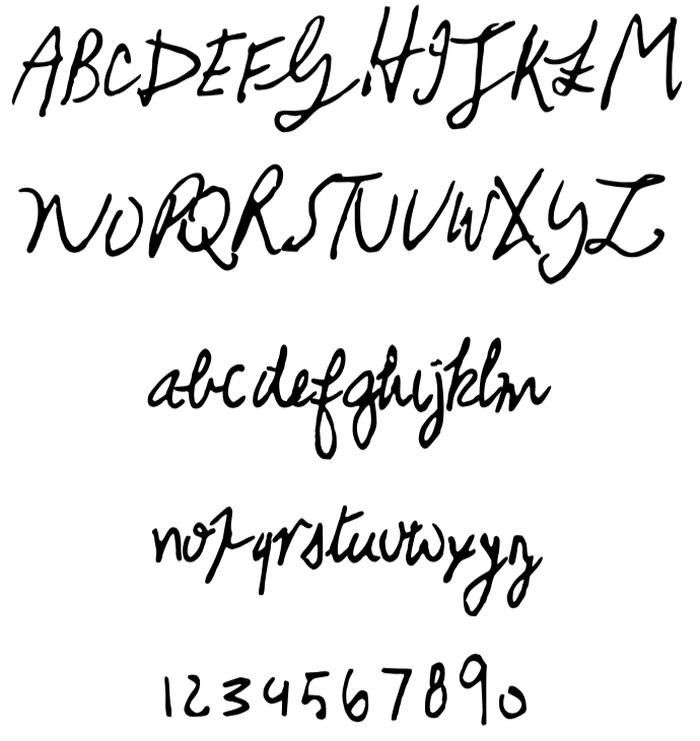 calligrafia musicisti font