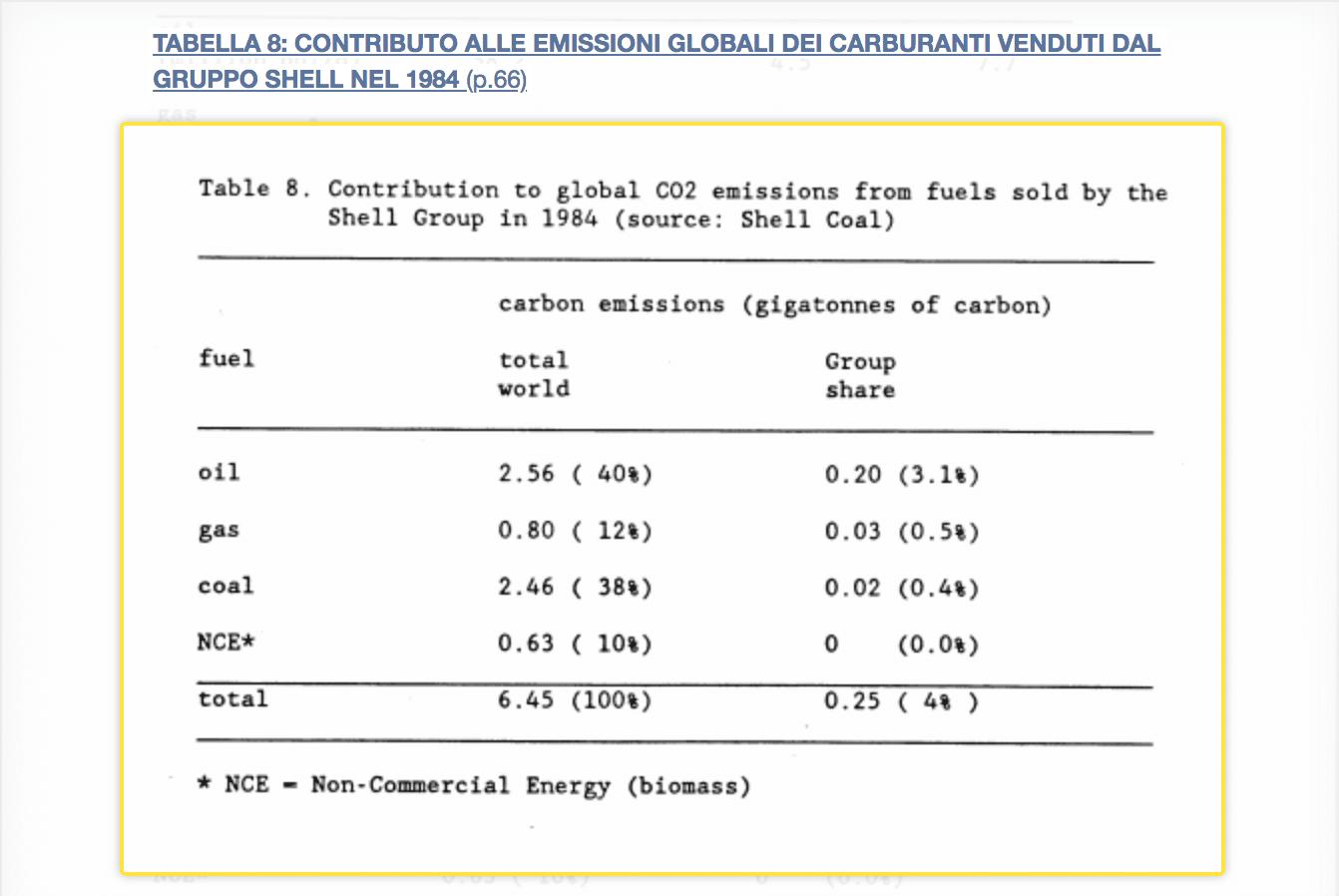 Shell rischi riscaldamento globale