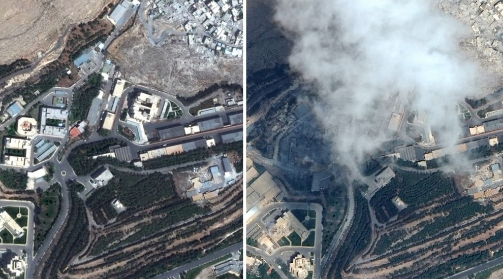 Siria missili immagini