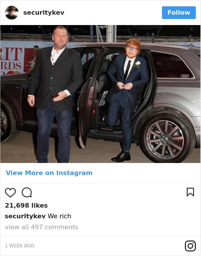 ed sheeran foto imbarazzanti instagram