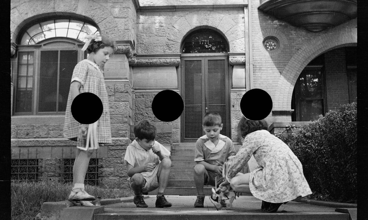 fotografie censurate cerchio nero america