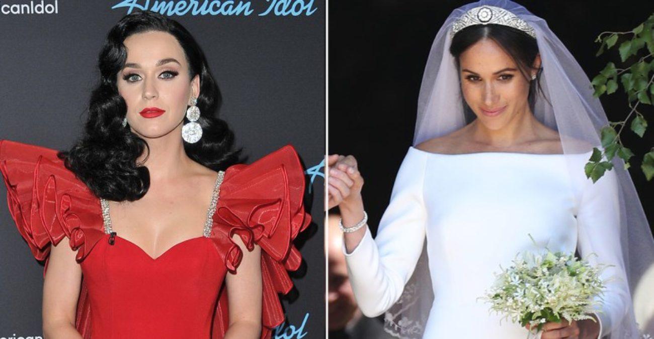 ba63d2baf339 Katy Perry ha criticato Meghan Markle e il suo abito da sposa