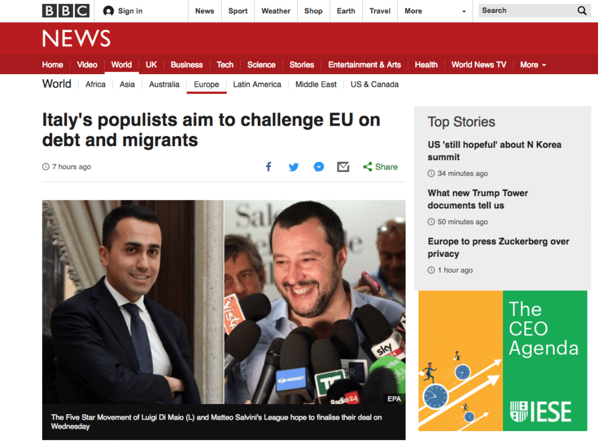 giornali esteri nuovo governo