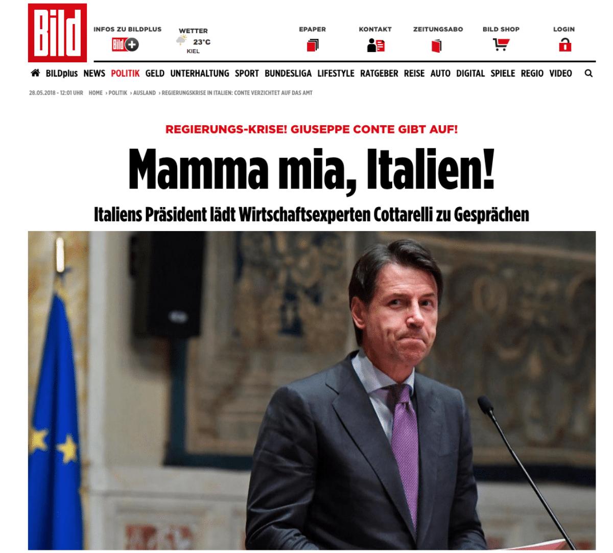 crisi governo giornali esteri