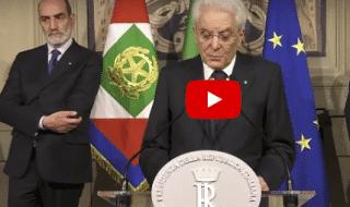 mattarella rinuncia governo conte discorso