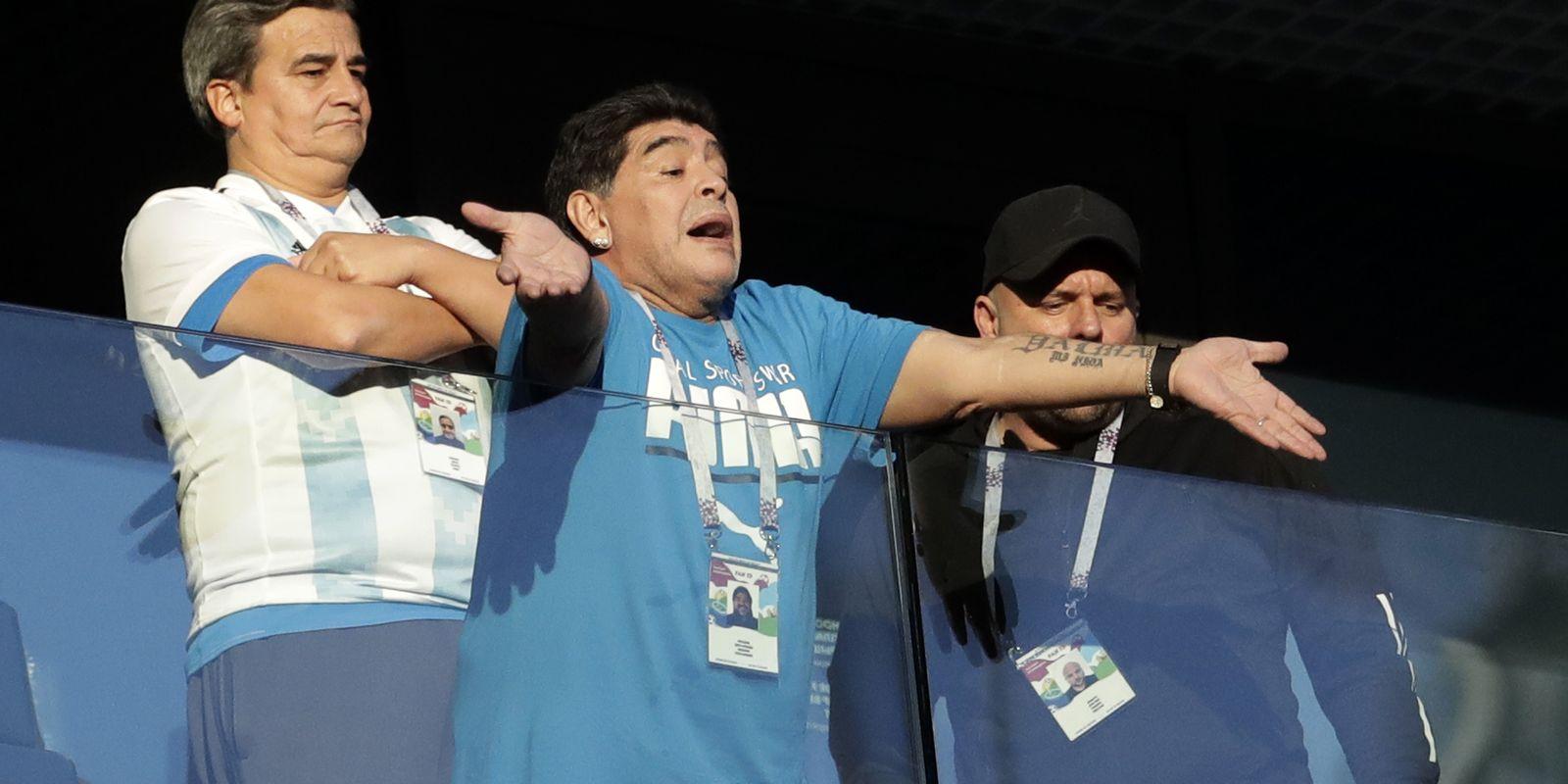 Maradona Nigeria Argentina