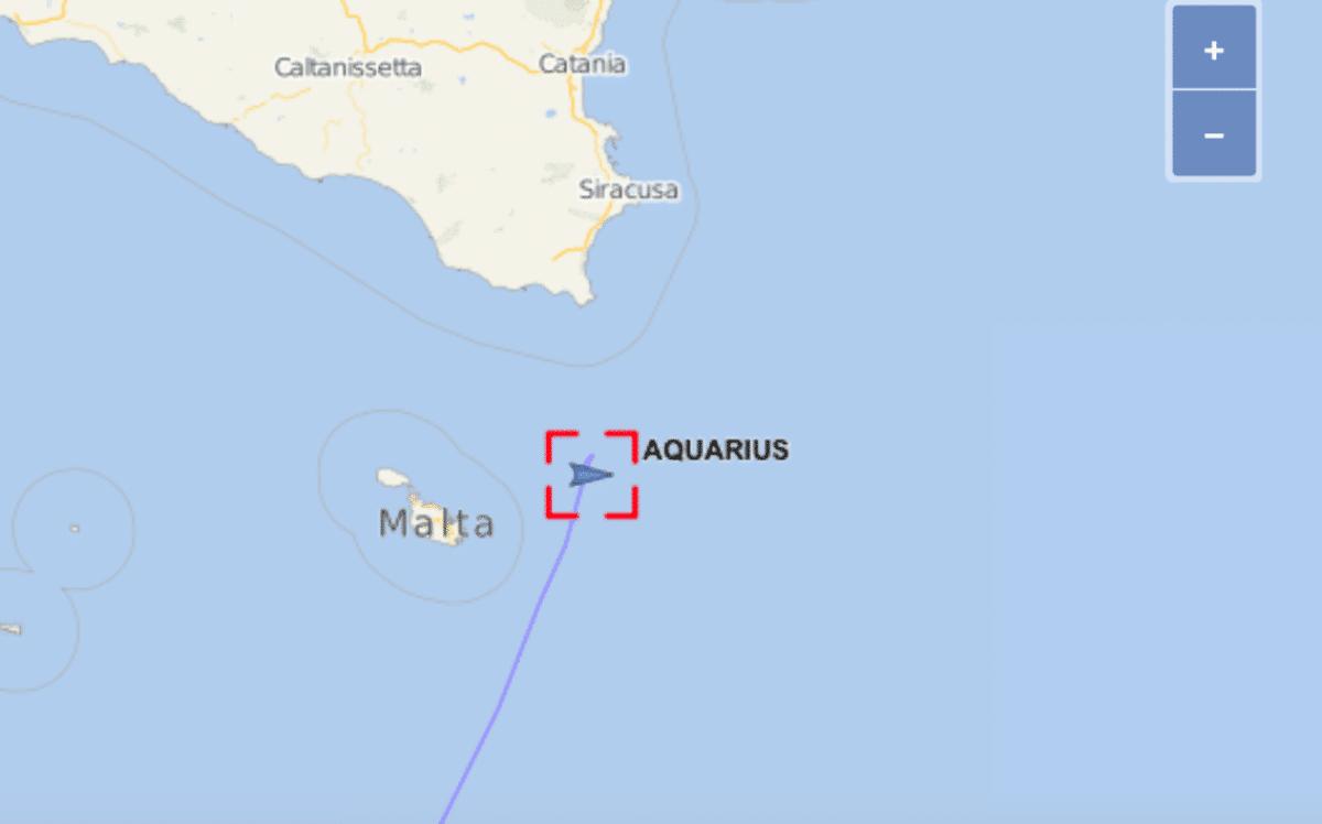 aquarius nave migranti posizione