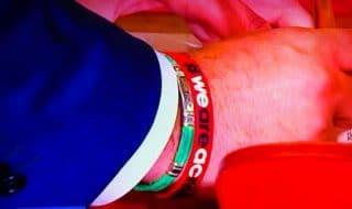 Salvini braccialetto Milan