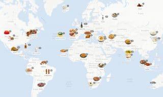 mappa piatti ricette mondo