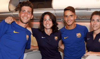 Barcellona aereo sessismo