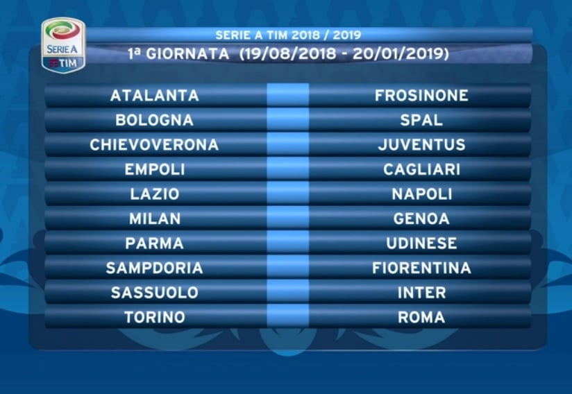 Calendario Milan Anticipi E Posticipi.Calendario Milan 2018 2019 Partite Date Orari Anticipi E