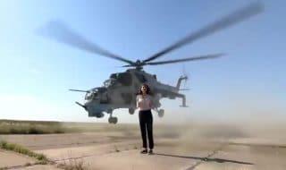 Giornalista decapitata elicottero