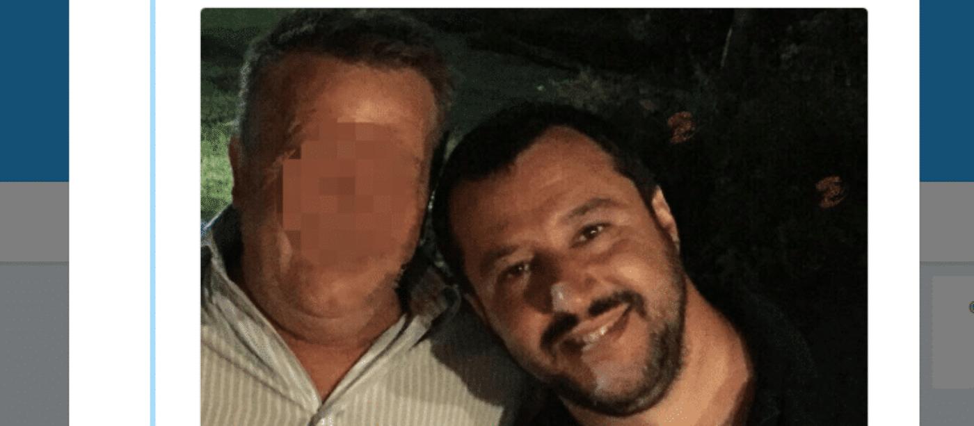 salvini selfie boss pentito